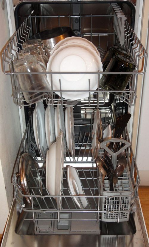 как укладывать посуду в посудомоечную машину фото