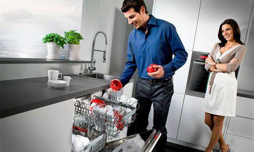 Частично-встраиваемая посудомоечная машина