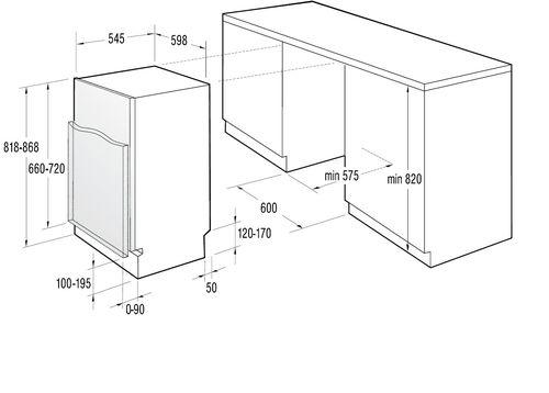Размеры встраиваемой посудомоечной машины: выбираем технику исходя из её габаритов 44