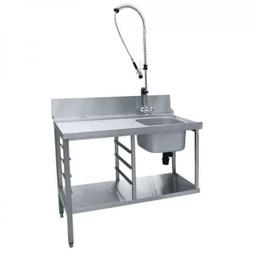 Стол для сортировки посуды и душ