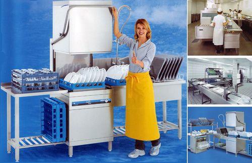 Посудомоечная машина в ресторане