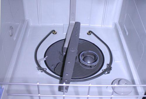 Размещение разбрызгивателя в посудомоечной машине