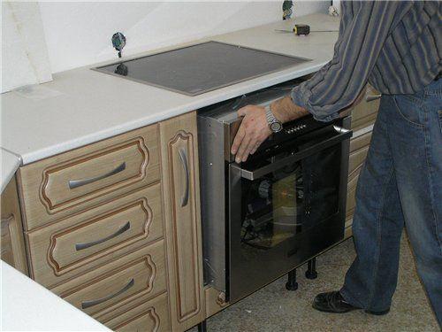 Установка посудомойки в кухонный гарнитур