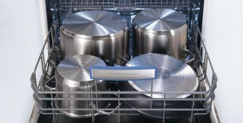 Расположение сковород и кастрюль